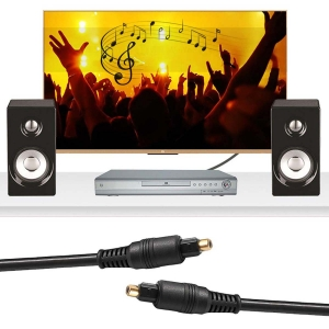 Cable de Audio Digital Negro De 1.8m