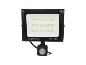 Reflector Led 30w Con Sensor De Movimiento Contra Agua IP66