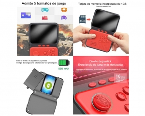 Mini Consola Juegos Retro 900 En 1 Con Joystick