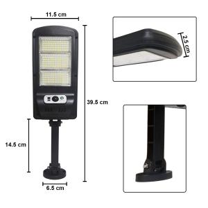 Lampara Solar Led 60w Recargable Para Exterior Con Sensor De Movimiento