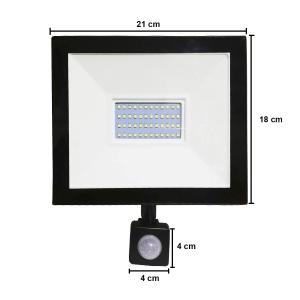 Reflector Led 50w Con Sensor De Movimiento Contra Agua IP66