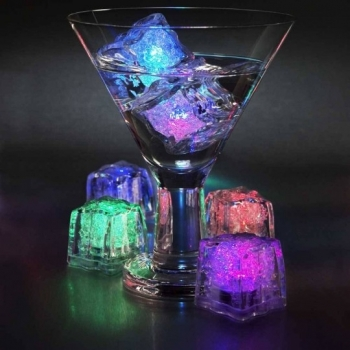 Cubo Led Luminoso RGB Sumergible Desechable