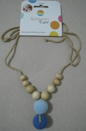Modern Mama Necklace Baby Blue with Denim
