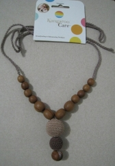Funky Mama Necklace Beige with Chocolate
