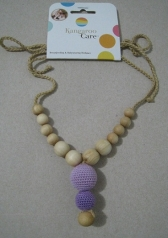 Funky Mama Necklace Lavender with Purple
