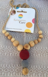 Funky Mama Necklace Claret with Grey