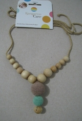 Funky Mama Necklace Beige with Mint