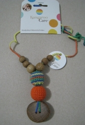 The Best Babywearing Necklace Orange and Green Mix