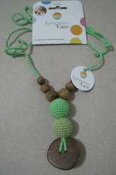 The Best Babywearing Necklace Olive and Green