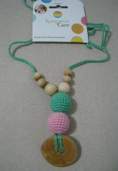 The Best Babywearing Necklace Mint and Baby Pink