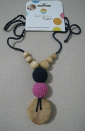 The Best Babywearing Necklace Navy and Bright Pink