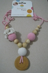 Flower Mama Necklace Cream and Baby Pink