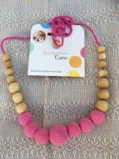 Solid Color Necklace in Bright Pink