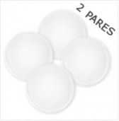 Almohadillas Reusables Blanco 2 pares