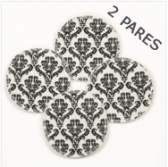 Almohadillas Reusables Damask  2 pares
