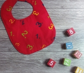 Babero Numeros Rojo