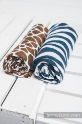 SET ZEBRA NAVY BLUE & WHITE, GIRAFFE BROWN & CREAM