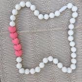 Collar Corazones Blanco con Rosa