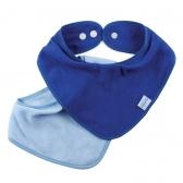 Bandana Bib Bumkins 2 Pack, Azul