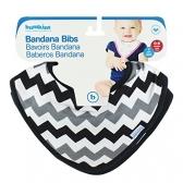 Bandana Bib Bumkins 2 Pack, Gray Chevron