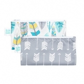 Reusable Snack Bag Bumkins 2Pck, Arrows y Feathers