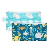 Reusable Snack Bag Bumkins 2Pck, Sea and Whales