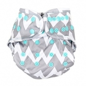 Cubierta Diaper Cover Grey Chevron