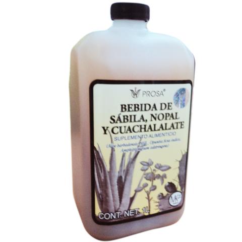 BEBIDA DE SABILA NOPAL Y CUACHALALATE