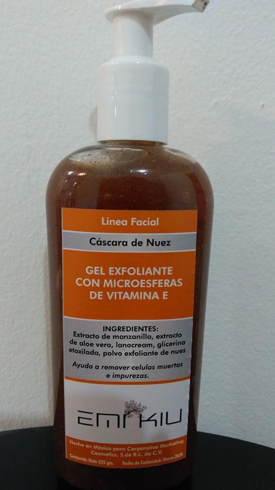 Exfoliante facial cascara de nuez